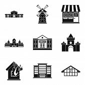 Accommodation Icons Set. Simple Set Of 9 Accommodation Icons For Web Isolated On White Background poster