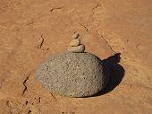 Rock cairn, Sedona, Arizona