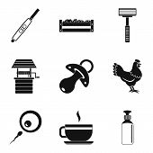 Live In Countryside Icons Set. Simple Set Of 9 Live In Countryside Icons For Web Isolated On White B poster