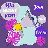 Join Our Team For Promotion Design. Modern Template Vector Design. Job Search Concept. Modern Backgr poster