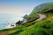 Road Along The Scenic Coast Of Western Ireland. Slea Head, Dingle Peninsula, County Kerry. poster