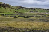 Old Characteristic Enclosure For Sheeps In Southern Iceland poster