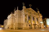 Lvov Opera House At The Night