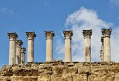 Ancient Columns Of The Roman Temple In Cordoba