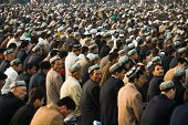 Crowd Of Muslim Worshipers During Ramadan