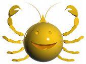 Zodiac: Emoticon 3d Cancer