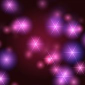 Stars Background In Violet