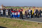 VUKOVAR, CROATIA - NOVEMBER 18: Rally in support of Croatian army generals freed at the Hague on Nov