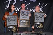 LOS ANGELES - NOV 20:  RUSH - Geddy Lee, Neil Peart, Alex Lifeson at the ceremony where RUSH is Indu