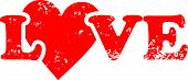 Love {Heart} Rubber Stamp
