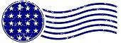 U.S.A. Stars Postage Cancellation Stamp