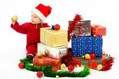 Baby With Christmas Gifts
