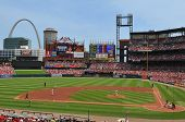 Panoramic View Of Busch Stadium