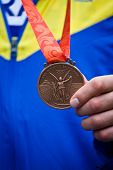 Close Up Of Olympic Bronze Medal