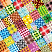 Textile patchwork cell