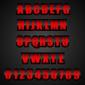 Vector Red Font
