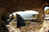 Mountain. Cave City Eski-kermen, Crimea, Ukraine Vi-xiv Centuries