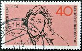 GERMANY - CIRCA 1972: A stamp printed in Germany shows Heinrich Heine circa 1972