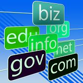 Green Url Words Shows Org Biz Com Edu