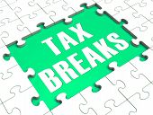 Jigsaw Puzzle Shows Tax Breaks