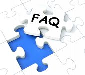 Faq Puzzle Shows Inquiries And Questions