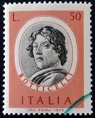 ITALY - CIRCA 1973: stamp printed in Italy shows Sandro Botticelli circa 1973