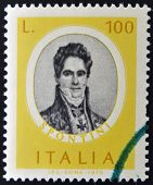 ITALY - CIRCA 1975: stamp printed in Italy dedicated to Famous musicians shows Gaspare Spontini circ