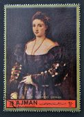 portrait of the beautiful woman by Titian