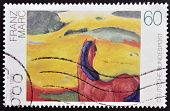 GERMANY - CIRCA 1992: A stamp printed in Germany shows Horse in a Landscape by Franz Marc circa 1992