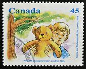 CANADA - CIRCA 1996: stamp printed in Canada shows Winnie and Christopher Robin circa 1996