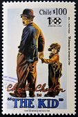 CHILE - CIRCA 1995: A stamp printed in Chile shows Charles Chaplin in The Kid circa 1995