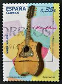 SPAIN - CIRCA 2011: A stamp printed in Spain shows a mandolin circa 2011