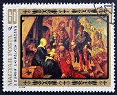 HUNGARY - CIRCA 1978: stamp printed in Hungary shows the painting Adoration of the Magi by A. D�re