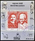 INDIA - CIRCA 1995: Stamp printed in India shows Mahatma Gandhi circa 1995