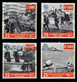 UNITED KINGDOM - CIRCA 1994: collection stamps printed in Great Britain commemorating D-Day circa 19