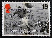 UNITED KINGDOM - CIRCA 1993: A stamp printed in Great Britain dedicated to Football Legends shows Di