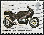 UNITED KINGDOM - CIRCA 2005: A stamp printed in Great Britain shows Norton F.1 Road Version of Race