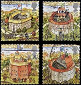 UNITED KINGDOM - CIRCA 1995: Four stamps printed in Great Britain dedicated to Reconstruction of Sha