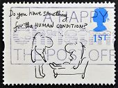 UNITED KINGDOM - CIRCA 1996: A stamp printed in Great Britain shows 'Do you have something for the H