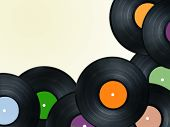 vinyl plate or disc