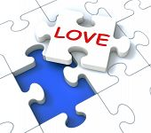 Love Puzzle Shows Loving Couples