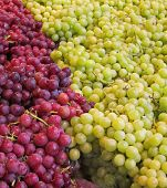 Green And Red Seedless Grapes