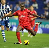 BARCELONA - NOV, 10: Raoul Loe of Osasuna during a Spanish League match between Espanyol and Osasuna