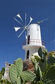 Traditional windmill at Crete island, Greece