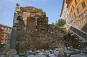 Ruins By Teatro Di Marcello, Rome - Italy