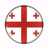 Button Flag Of Georgia