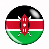 Button Flag Of Kenya