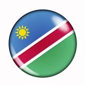 Button Flag Of Namibia