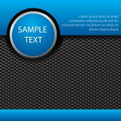 Abstract background, metallic blue brochure