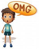 ilustração de um menino em um fundo branco
